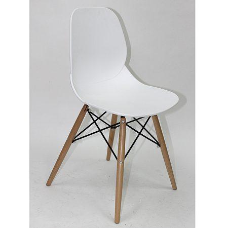Lucia White KD Side Chair